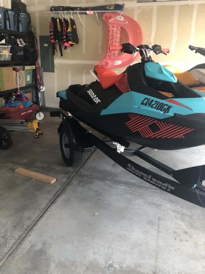 Seadoo GTI and Seadoo Trixx with Trailer
